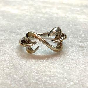 Jane Seymour Silver Open Hearts Ring | 7